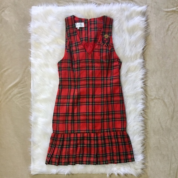 8249221b201 Vintage 90s plaid red dress. M 5b9299cd81bbc8c955fdd037